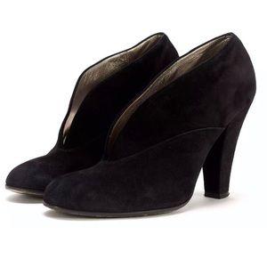 Marc Jacobs black Suede bootie